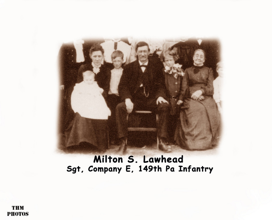 Milton Lawhead was a Private with Company E, 149th Pennsylvania Volunteer Infantry, when the regiment marched northwest of Gettysburg on July 1, 1863.
