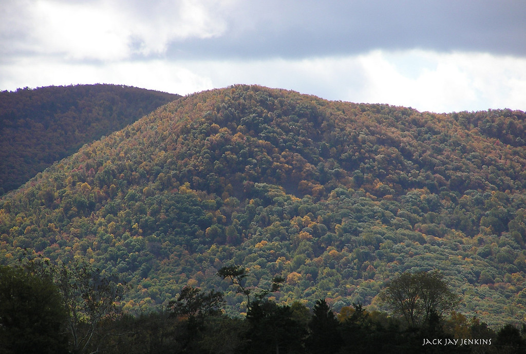 Part of the Blue Ridge Mountains to the east of the battlefield.