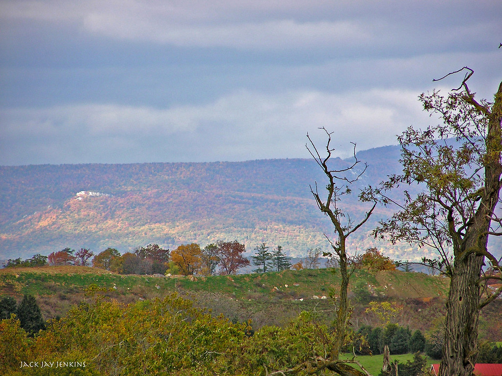 Looking west from the battlefield toward the Alleghany Mountains.