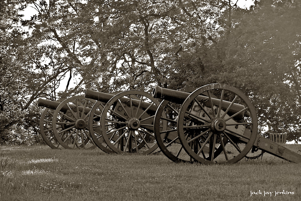 Union artillery - silent 142 years later.