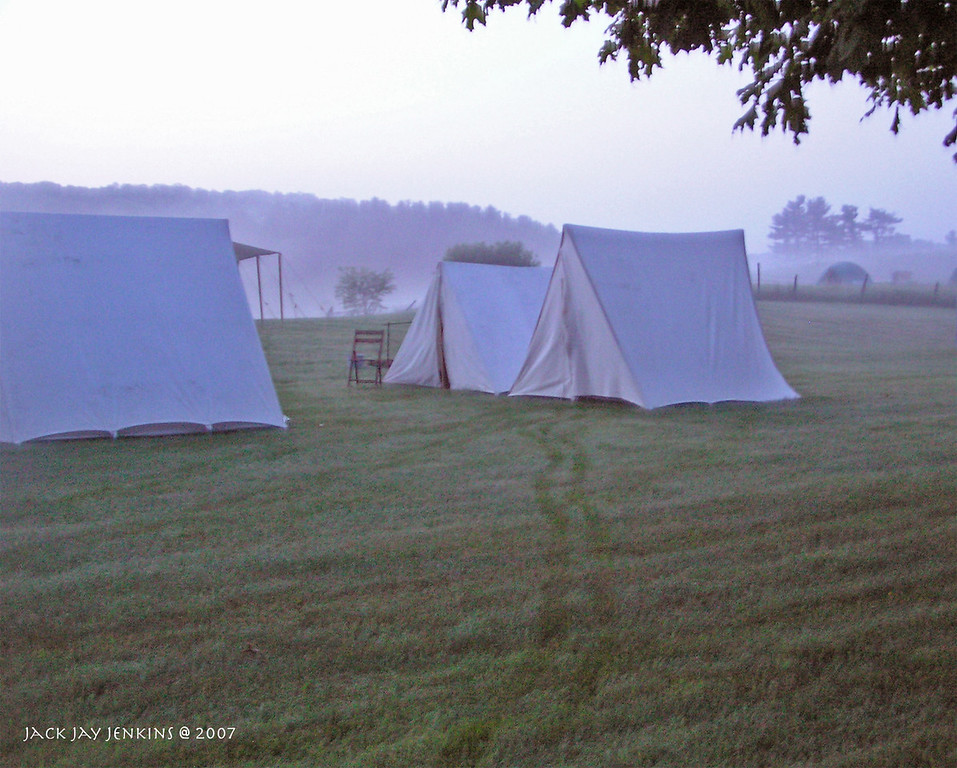 Company A, 3rd Arkansas tents.
